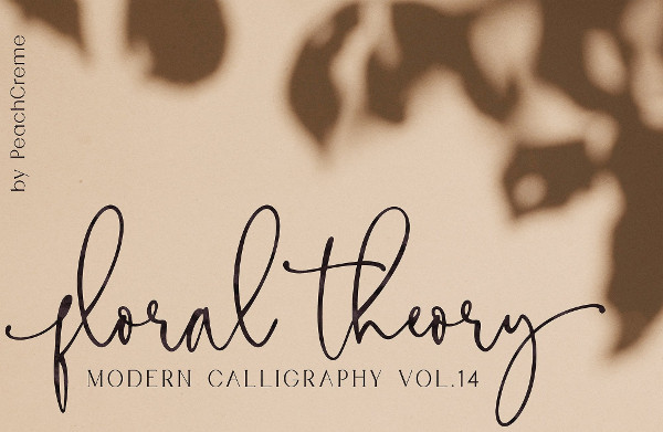 Floral Theory Calligraphy Font
