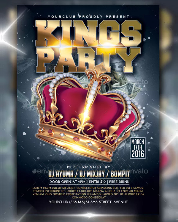 Luxury Kings Party Flyer Design