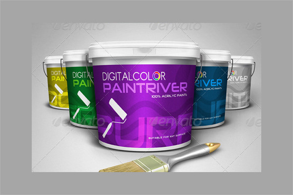 Premium Paint Bucket Mockups Kit