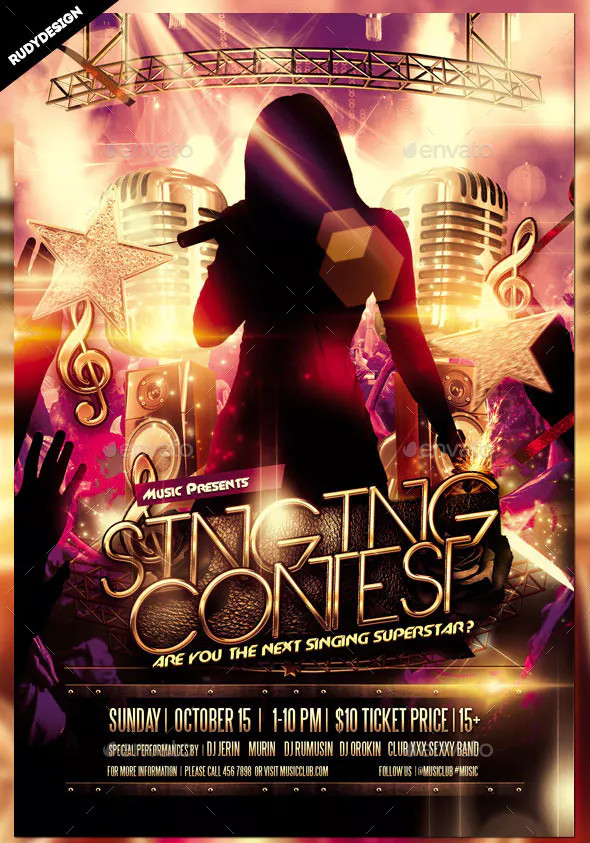 Singing Contest Flyer
