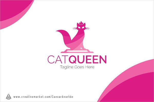 Cat Queen Logo Templates