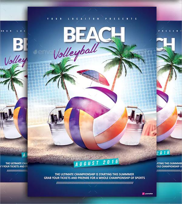 Cool Beach Event Flyer Template