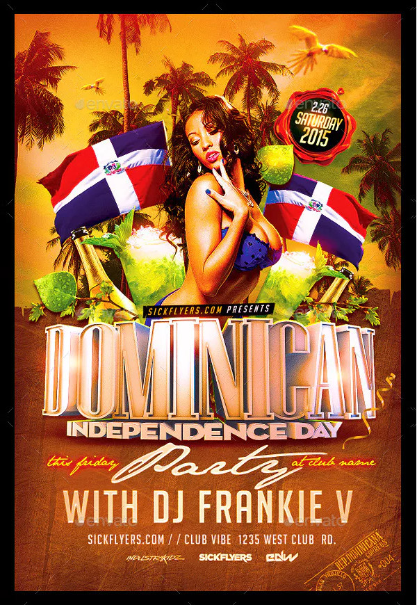 Dominican Independence Day Flyer