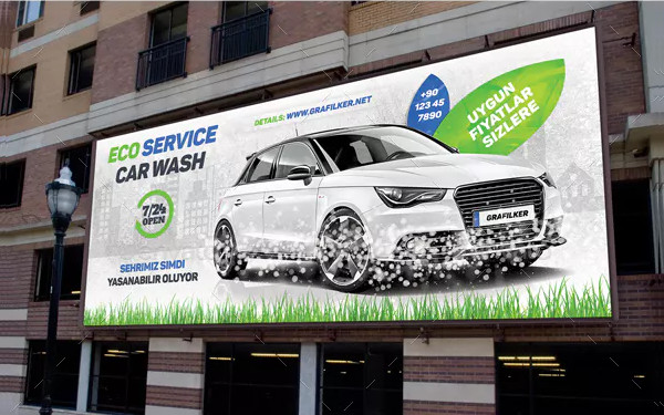 Eco Car Wash Billboard Templates