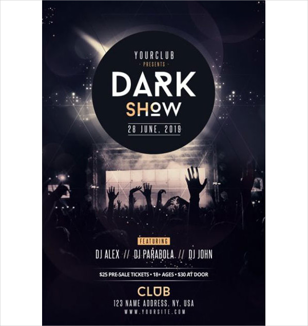 Free Live Band Festival PSD Flyer Template