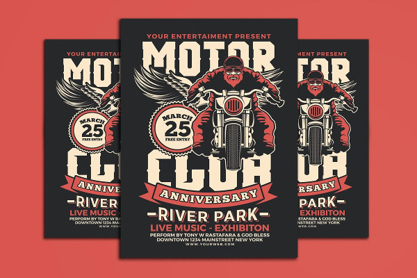 Motorcycle Club Event Flyer