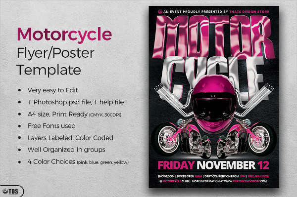 Print Ready Motorcycle Flyer Template