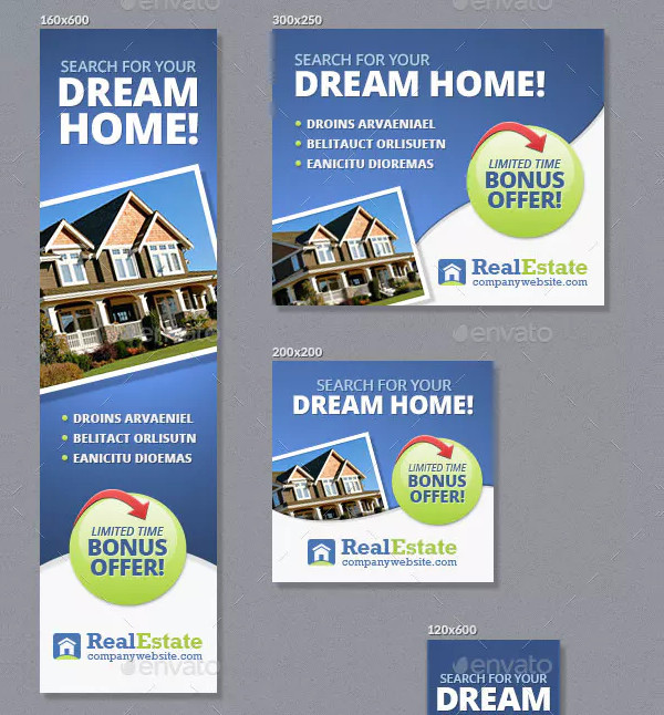 Real Estate Banner Design Ads