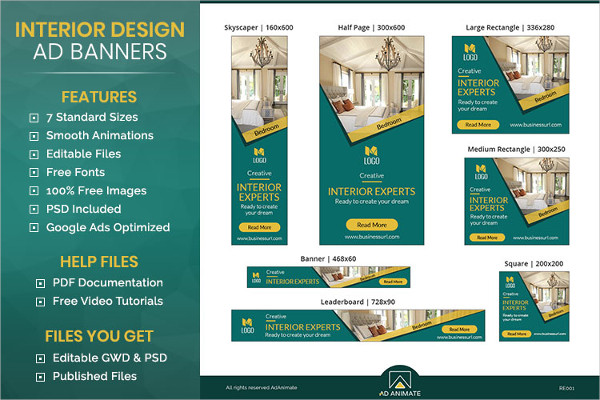 Real Estate & Interior Designer Banner Ad Template
