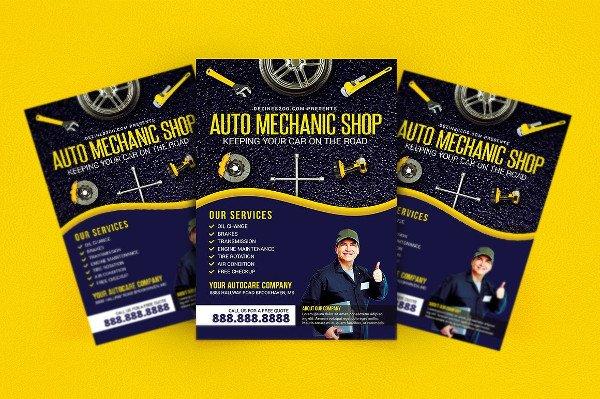 Auto Mechanic Repair Shop Flyer