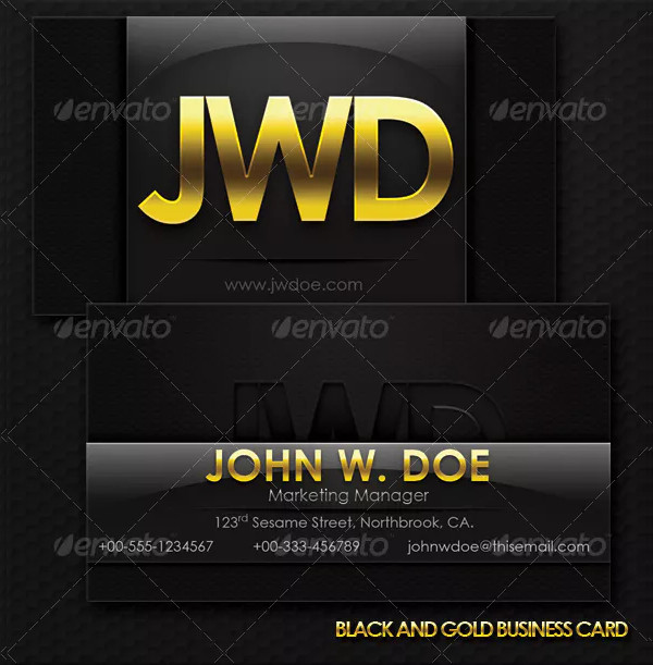 Black And Gold Exclusive Business Card Template