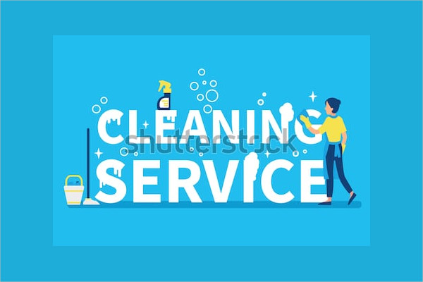 Cleaning Service Concept Design for Web Banner