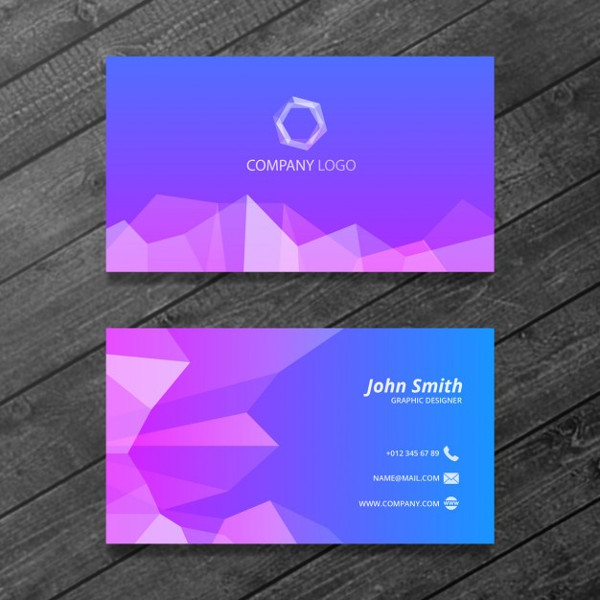 Free Polygonal Business Card Design Download