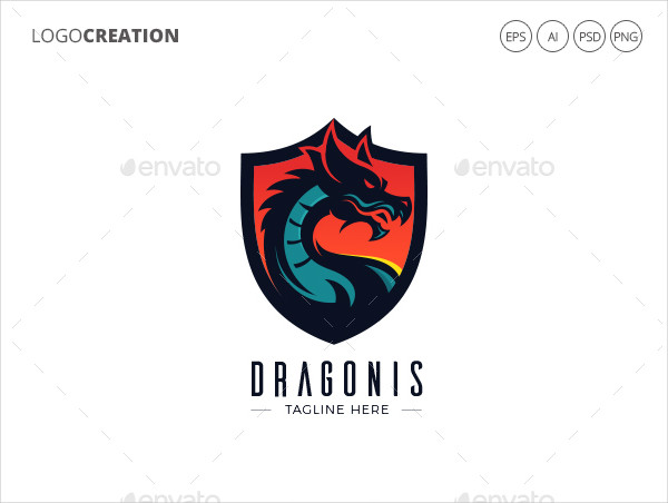 Printable Dragon Logo Template