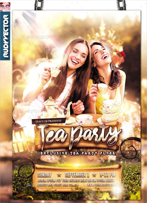 Garden Themed Tea Party Invitation Design