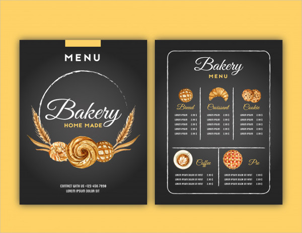 Hand Drawn Bakery Menu Template