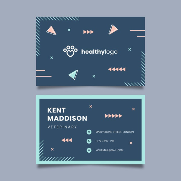 Veterinary Business Card Design Free Download