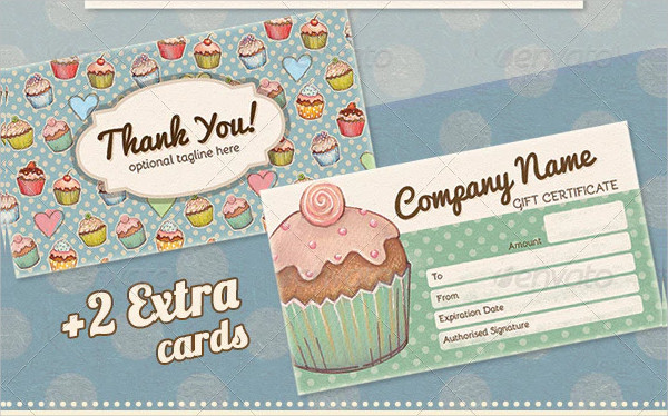 Vintage Cupcake Business Thank You Card