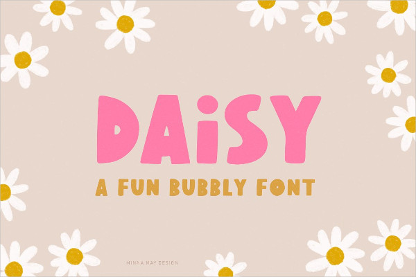 Fun Bubbly Display Typeface