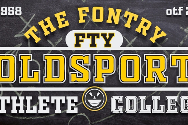Old Sports Athletic Font Free