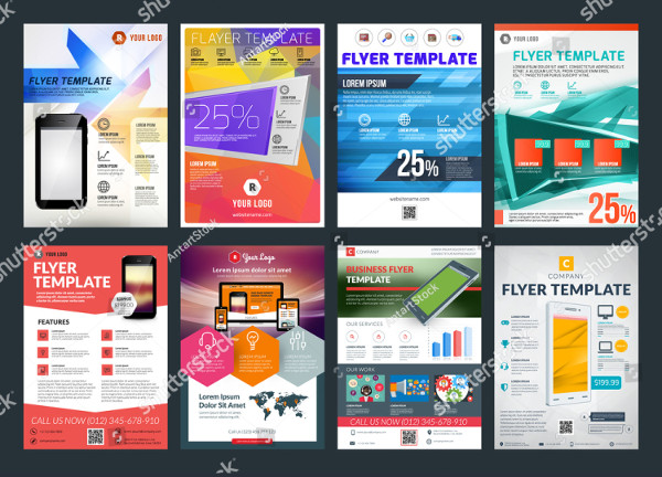 Set of Abstract Vector Business Flyers