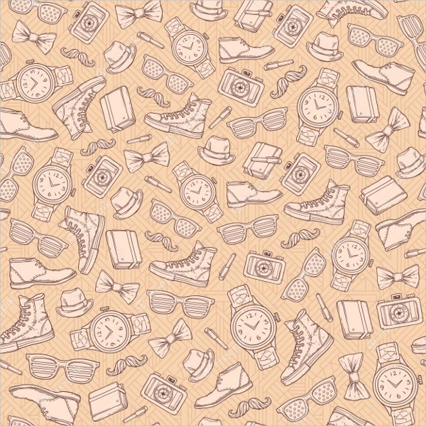 Vector Hipster Seamless Pattern
