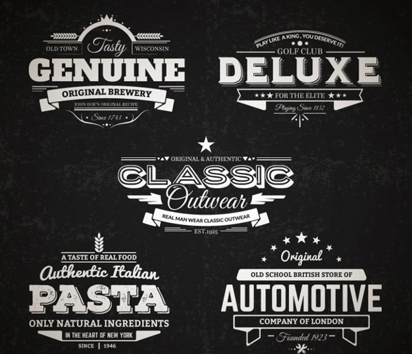 Retro Badges Collection Free Download