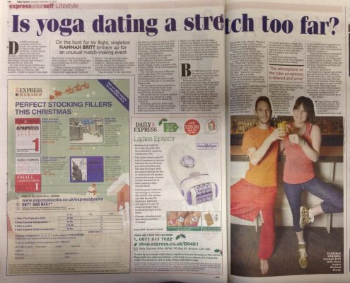 Richard Brook Singles Yoga Expert London in Daily Express