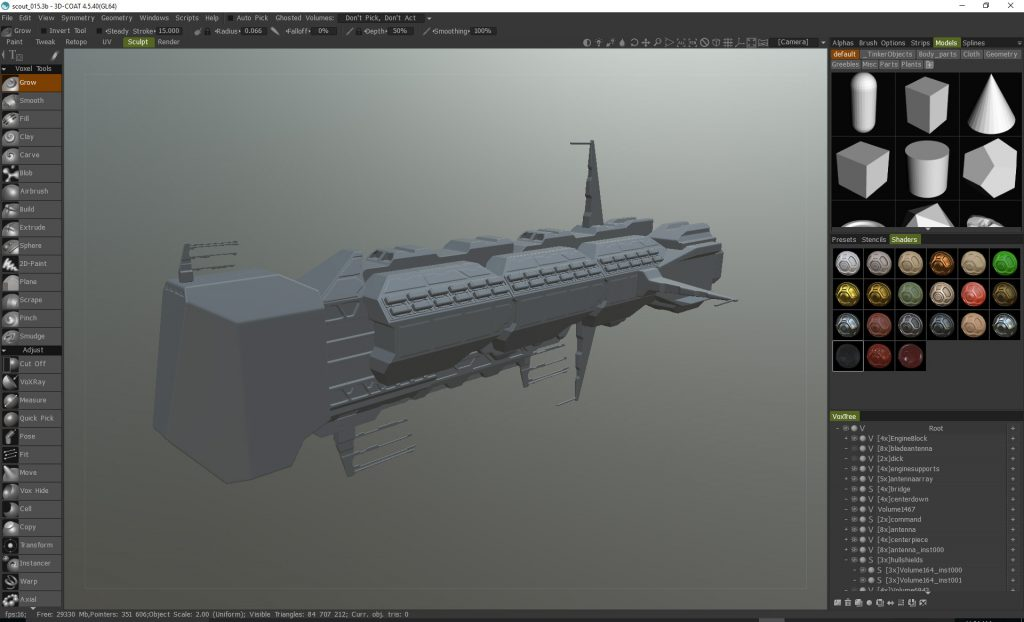 Getting into 3D modelling and sculpting with Sketchup