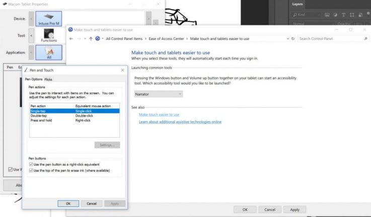 Go to accessibility settings to disable wacom circle in photoshop cc
