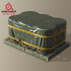 Substance Painter covered barrels source file