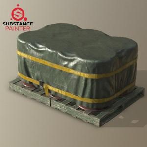 Substance Painter covered barrels source file