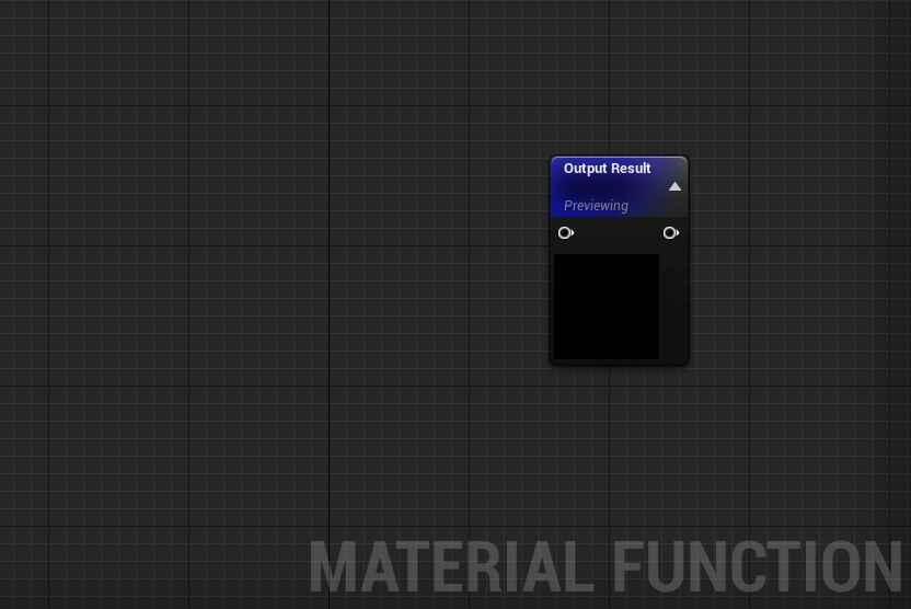 Empty material functions in Unreal Engine