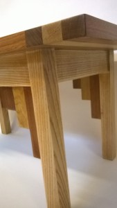 Mixed hardwood coffee table