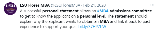 sample mba personal statement