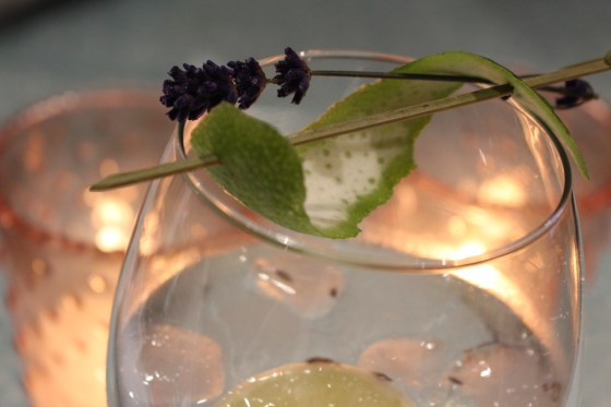 a picture of lavender and lime gin