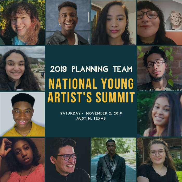 The 2019 National Youth Arts Summit Planning Team