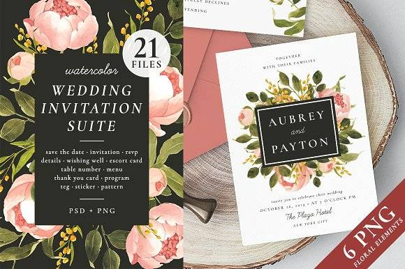 Peonies – wedding set