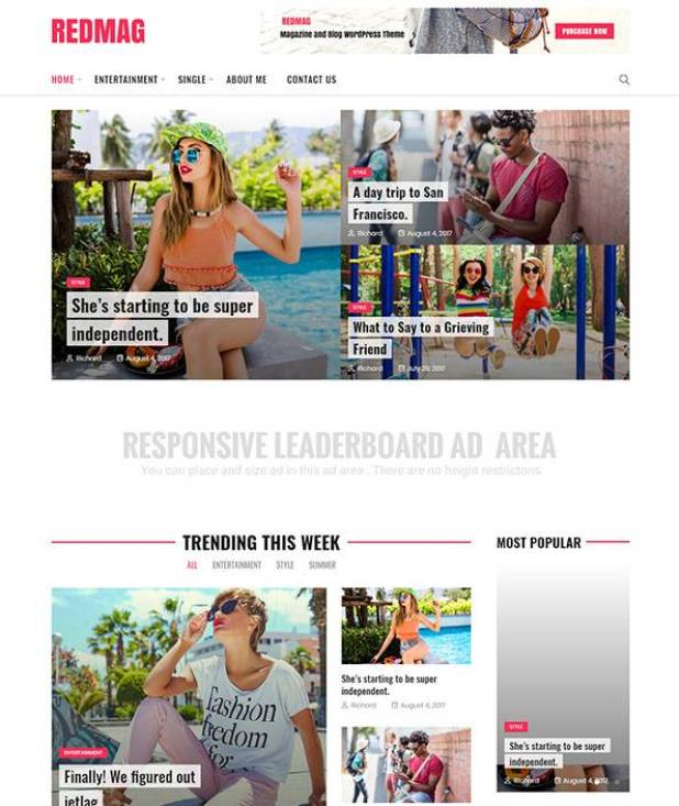 RedMag - AdSense Optimized & Entertainment News Theme