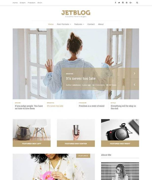 Jetblog wordpress theme