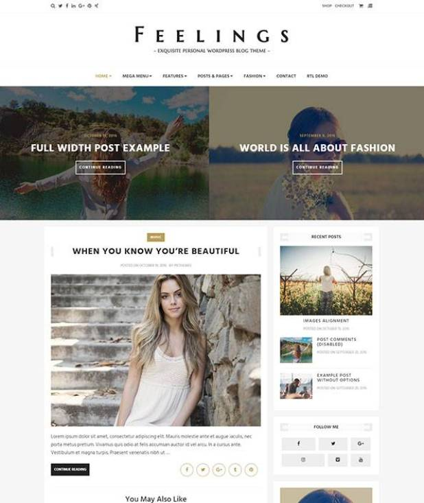 Feelings wordpress theme
