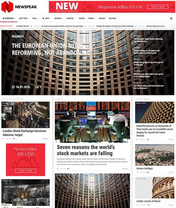 Newspeak wordpress theme