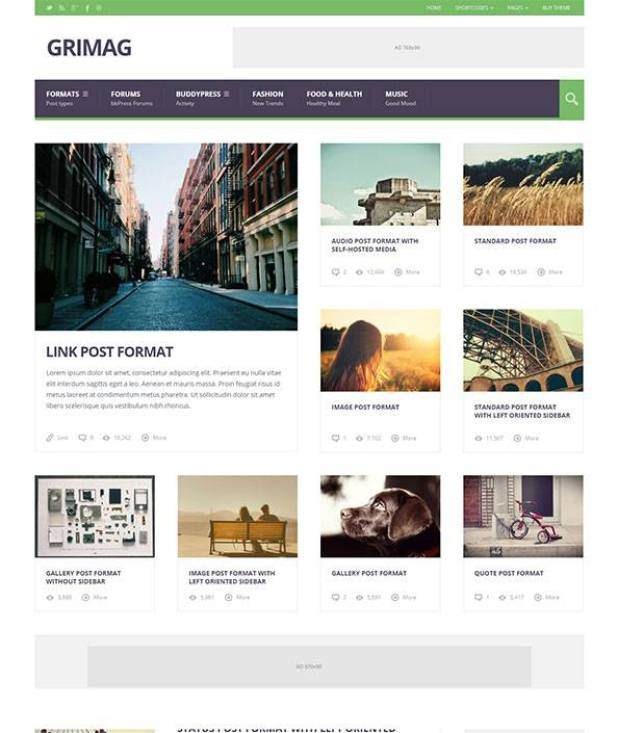 Grimag - AD & AdSense Optimized Magazine WordPress Theme