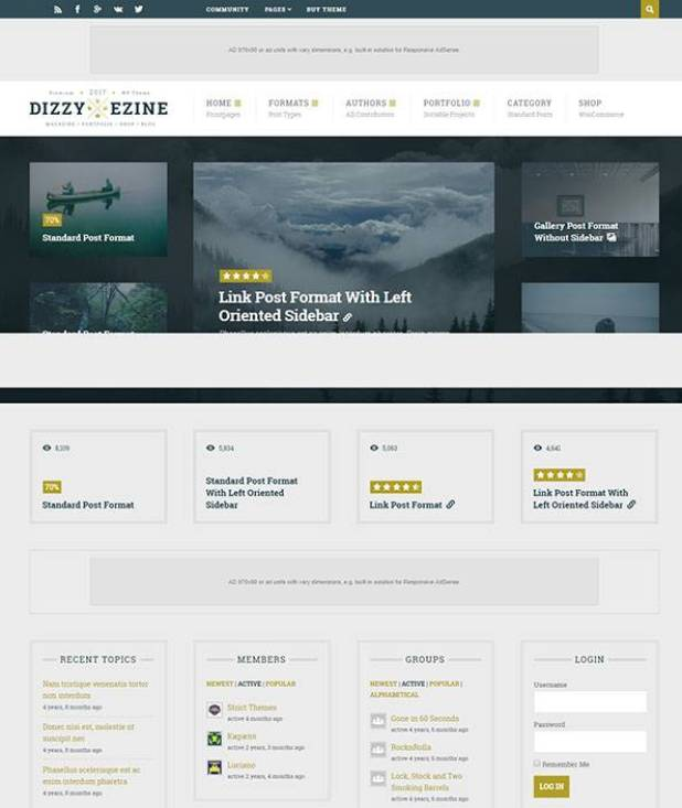 DizzyMag wordpress theme