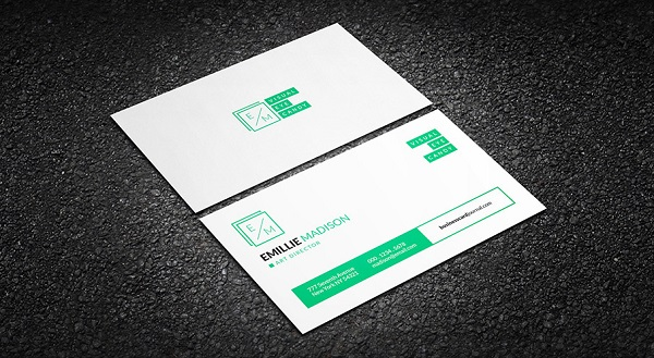 Clean Creative Individual Business Card Template