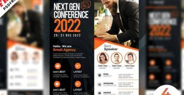 Conference Promotion Flyer Design PSD Free Template