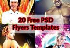 Stylish Free PSD Flyers Templates