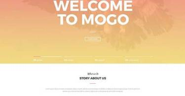MoGo – Free Landing Page PSD Templates