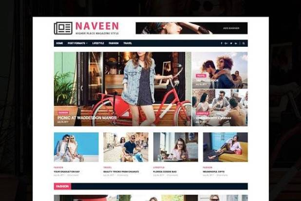 Naveen wordpress theme