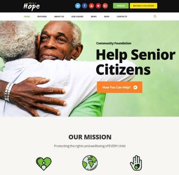 Hope | Non-Profit, Charity & Donations WordPress Theme + RTL